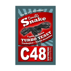 Спиртовые дрожжи Double Snake C48 Turbo 130 гр. (Англия)