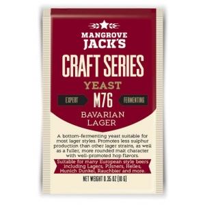 "Дрожжи низового брожения ""Bavarian Lager Yeast"" M76 10 гр. Mangrove Jacks (Новая Зеландия)"