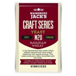 "Дрожжи верхового брожения ""Bavarian Wheat Yeast"" M20 10 гр. Mangrove Jacks (Новая Зеландия)"