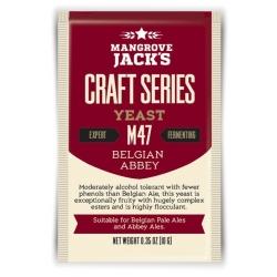 "Дрожжи верхового брожения ""Belgian Abbey Yeast"" M47 10 гр. Mangrove Jacks (Новая Зеландия)"