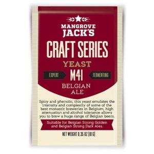 """Дрожжи верхового брожения """"Belgian Ale Yeast M41"""" 10 гр. Mangrove Jacks (Новая Зеландия)"""