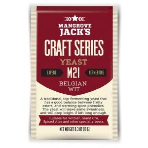 """Дрожжи верхового брожения """"Belgian Wit Yeast"""" M21 10 гр. Mangrove Jacks (Новая Зеландия)"""