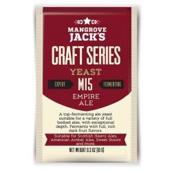 """Дрожжи верхового брожения """"Empire Ale Yeast"""" M15 10 гр. Mangrove Jacks (Новая Зеландия)"""