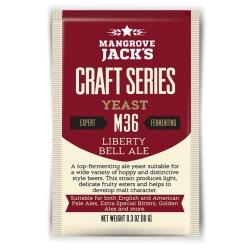 "Дрожжи верхового брожения ""Liberty Bell Ale Yeast"" M36 10 гр. Mangrove Jacks (Новая Зеландия)"
