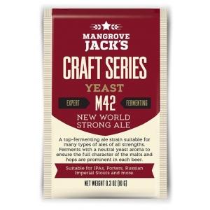 "Дрожжи верхового брожения ""New World Strong Ale Yeast"" M42 10 гр. Mangrove Jacks (Новая Зеландия)"