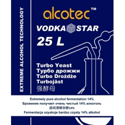 Спиртовые дрожжи Alcotec VodkaStar Turbo 66 гр. (Англия)