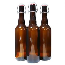 Бутылка стеклянная с бугельной пробкой 0,75 л.