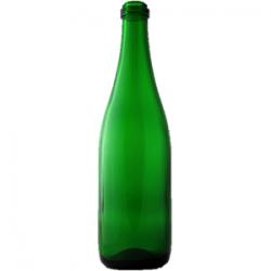 Стеклянная бутылка 0,75 л зеленая