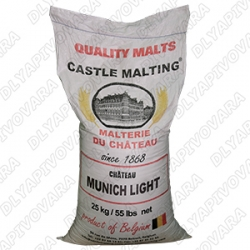 Солод Chateau Munich Light (Мюник Лайт) 17 EBC 25 кг (CASTLE MALTING - Бельгия)