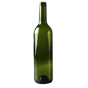 Бутылка винная 0,75 л. оливковая
