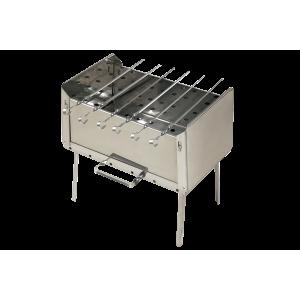 Мангал-дипломат 410*280*480 мм, 6 шампуров, нерж. сталь