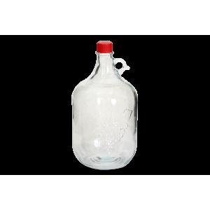 """Бутылка стеклянная """"Лоза"""" с пробкой, 5 л"""