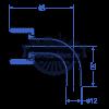 Патрубок угловой с накидной гайкой: трубка заборная для котла