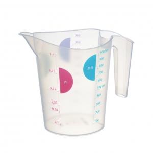 Мерный кувшин для жидкостей и сыпучих продуктов 1 л